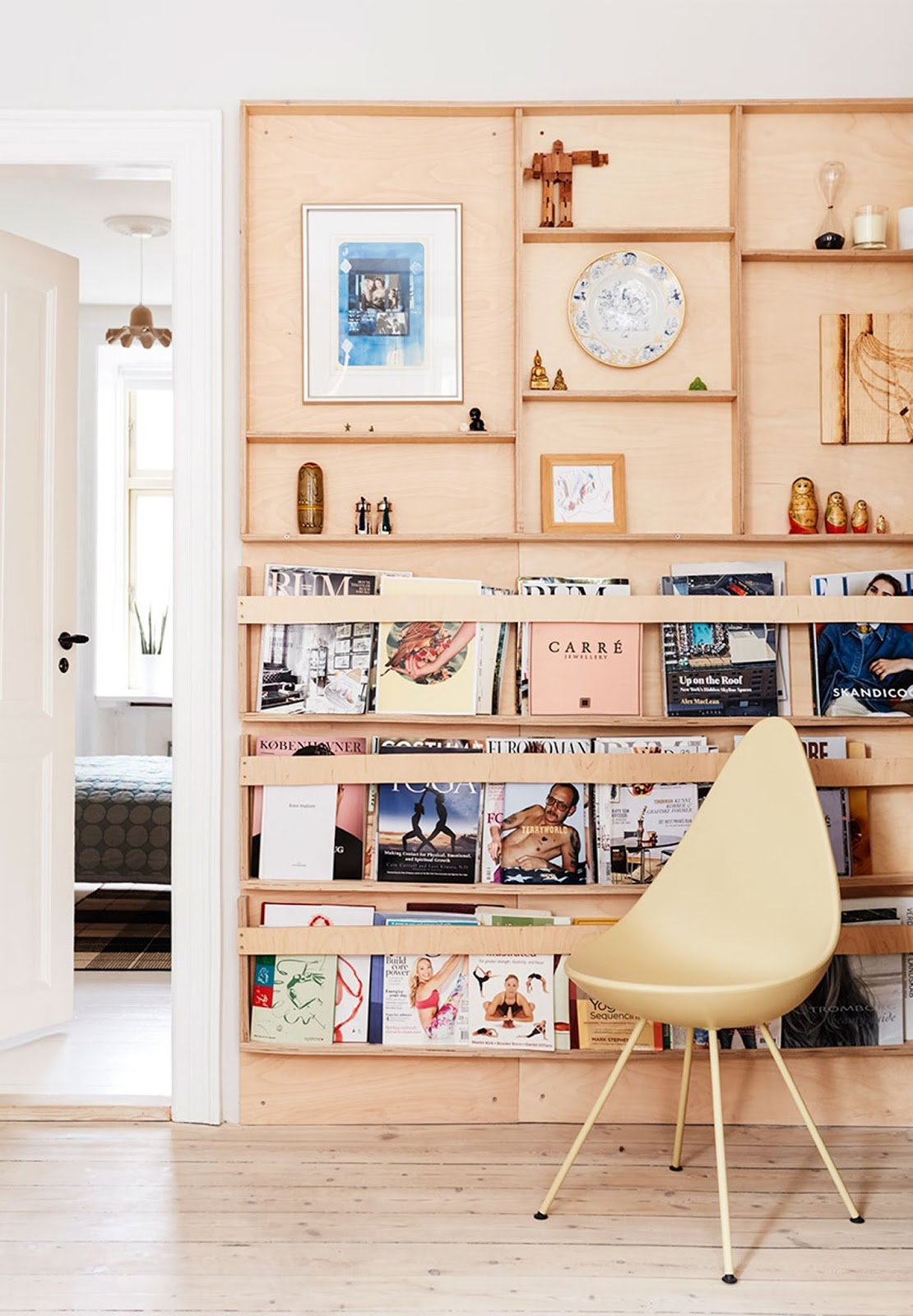 plywood design bookshelf, danish design, scandinavian apartment, interior design