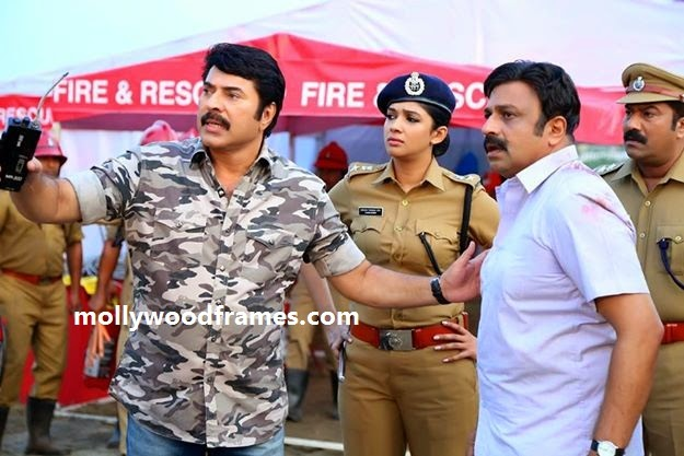 Mammootty with other cast in Fireman