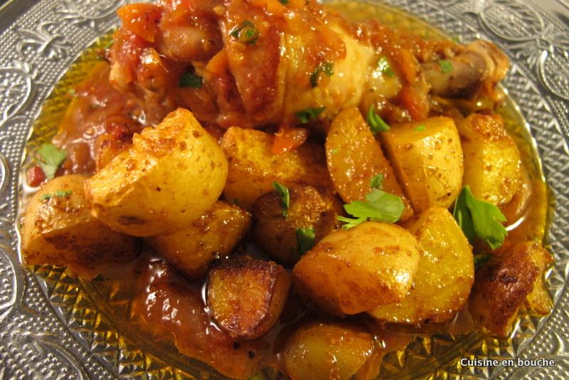 Recette Cuisses de poulet et pomme de terre au four Notée 4 1 5