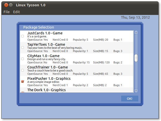 Linux Tycoon: Linux Distro Building Simulator Game