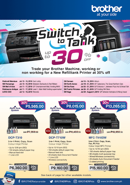 Brother Philippines Back to School Treat Printer Promo