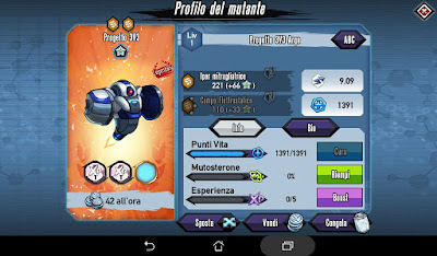 Mutants: Genetic Gladiators Breeding video N°474 (Project 3v3 - Robot # Progetto 3v3 - Robot) Silver - Argento
