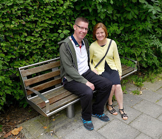 Richard and Emily Gottfried having a nice sit down on a bench in Stockport. Photo by Leland Carlson