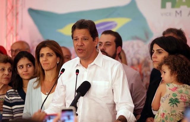 Haddad deseja 'boa sorte' a Bolsonaro e diz que está com coração leve
