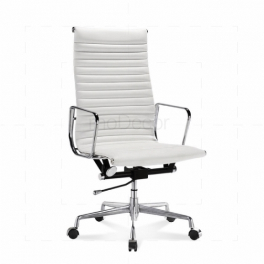 Cheap] White Tan Leather OFFICE Chair UK Sale | Best Office Furniture