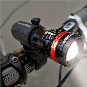 StellarLights - Solid Aircraft Aluminum Bike Light - BRIGHT 240 Lumens LED Bicycle Headlight With Tail light - WATERPROOF - Mounts in Seconds - NO TOOLS Required - LIFETIME WARRANTY