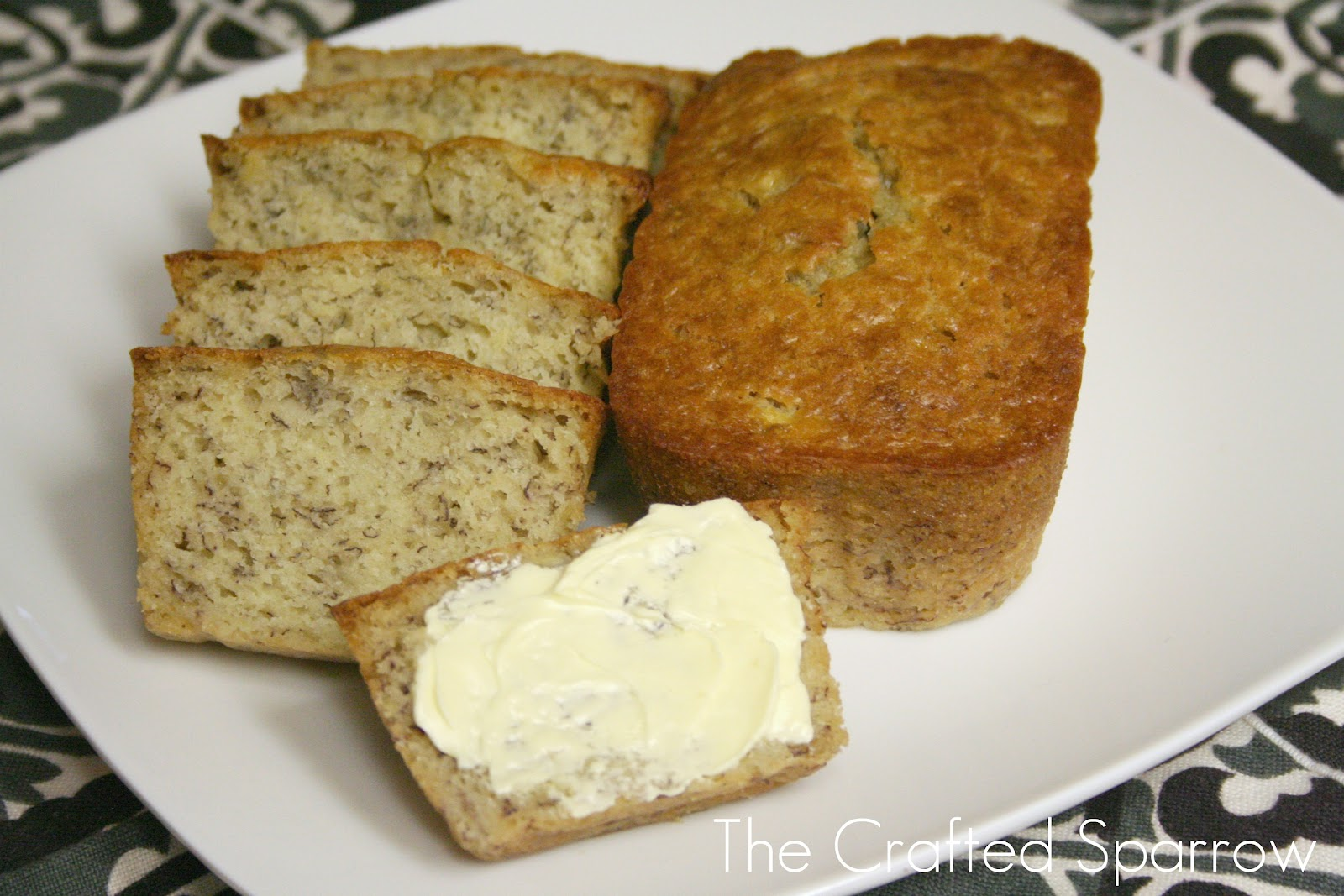 Buttermilk Banana Bread The Crafted Sparrow