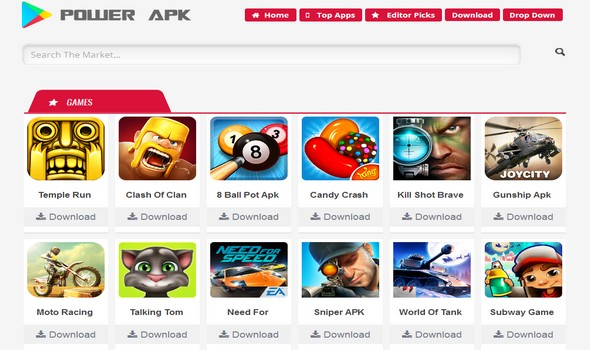 Power APK Premium Apps Blogger Template