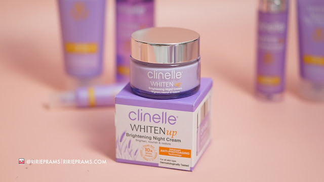 review skincare mencerahkan kulit Clinelle Whiten Up Brightening Series