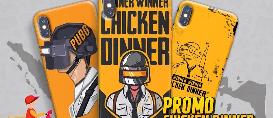 Stiker Free Ongkir Promo Chiken Dinner
