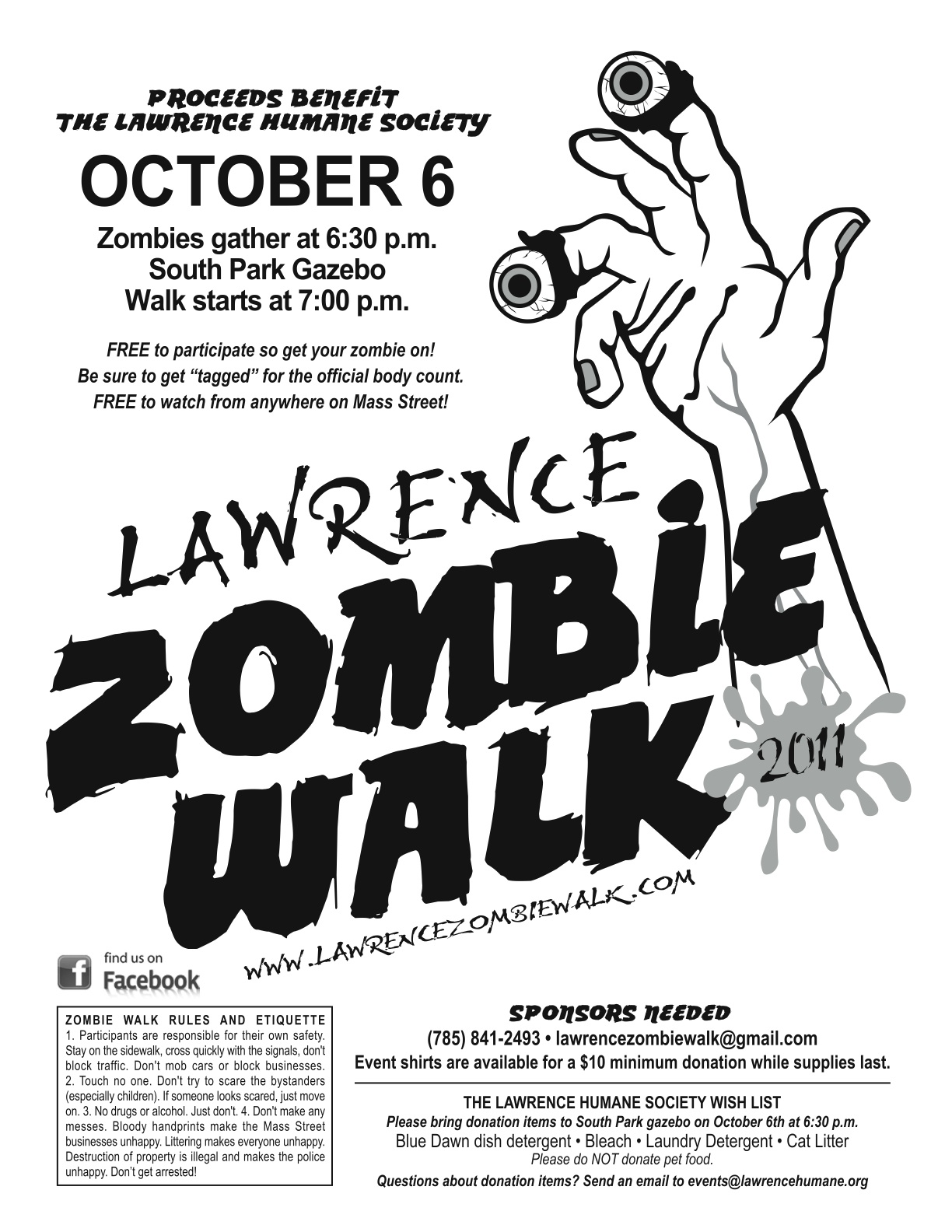 Lawrence Zombie Walk: Print a flyer for the walk!