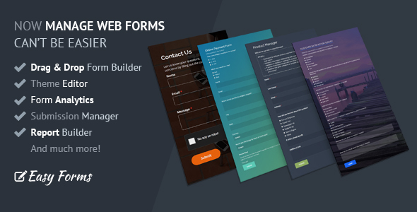 Easy Forms v1.3.1 – Advanced Form Builder and Manager