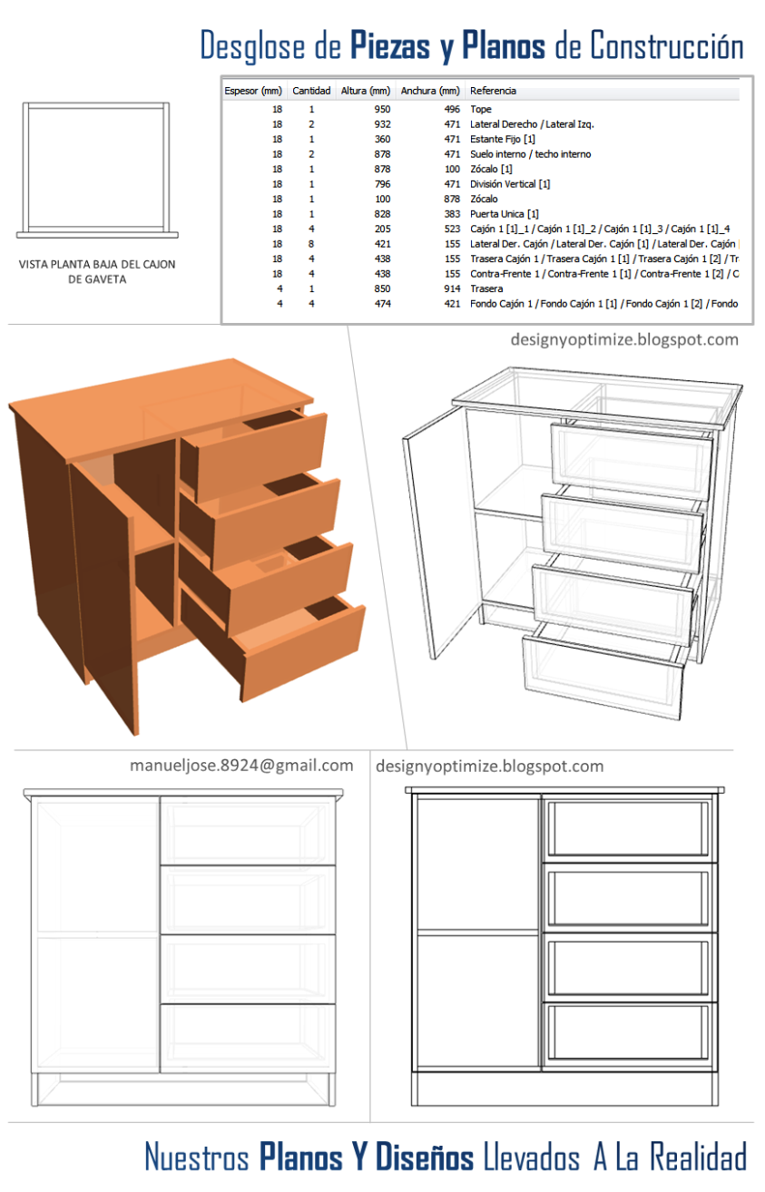 Dise o de muebles madera construir closet o armario for Planos de melamina