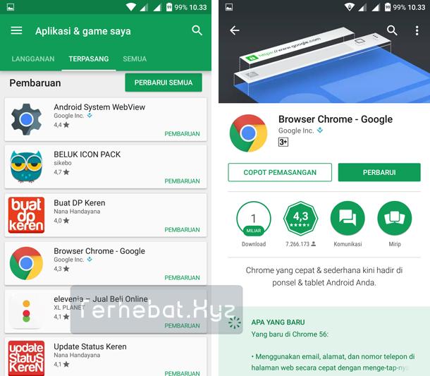 Apa Akibat Aplikasi Android Tidak Diperbarui