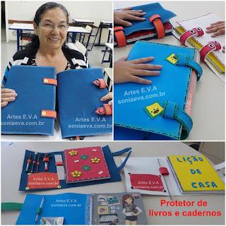 Protetor de livros e cadernos em EVA