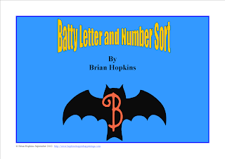 Bats Letters and Numbers Sort FREEBIE