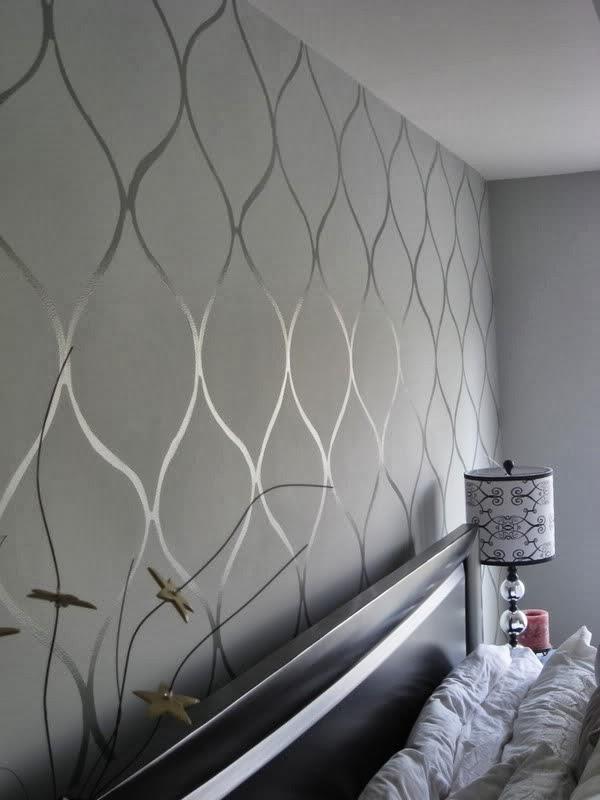 Cup Half Full Wall Stenciling