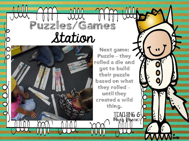 Where the Wild Things Are games and extension activities