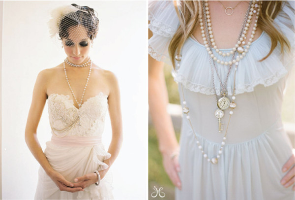 You Should Definitely Consider The Styles Of Your Wedding Gown Choose A Y Drop Bridal Necklace For V Neck