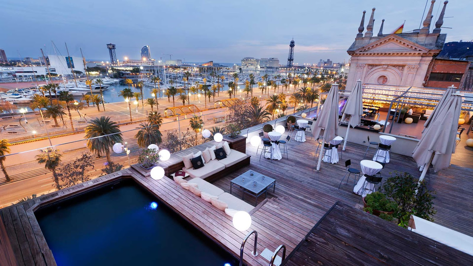 See the rooftop bars of Barcelona