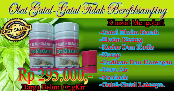 Obat Gatal Herbal De Nature