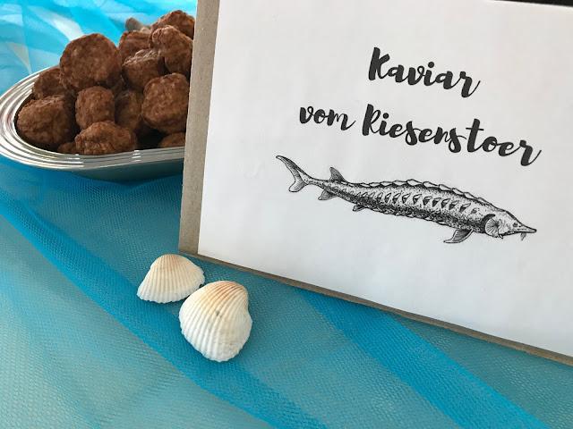 Mottoparty Unter Wasser - Mini-Frikadellen werden zu Riesen-Kaviar