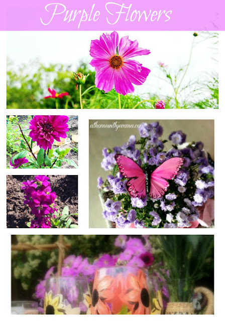 purple dahlia, butterfly, garden party, decorating with purple flowers.