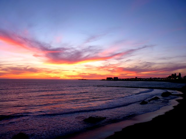 Atardecer en las playas de Cádiz