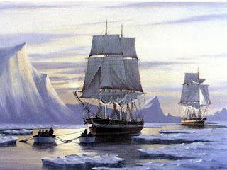 Los barcos HMS Erebus y HMS Terror