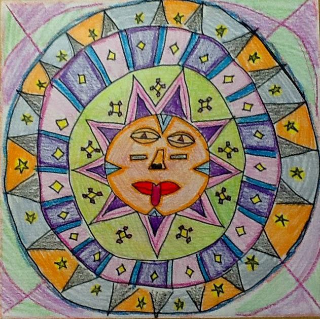 Aztec Calendar Art Lesson : Art inklings how to draw aztec sun stones