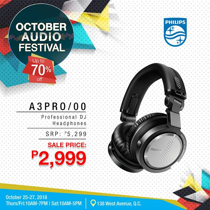 October Audio Festival: Up to 70% off on Philips Professional and Non-Pro Headphones