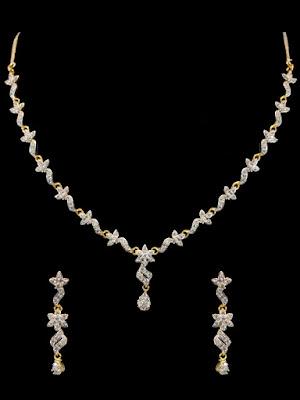 American Diamond Necklace Designs