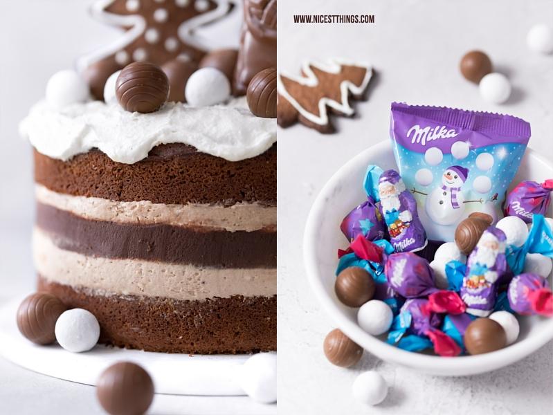 Milka Nougat Torte mit Milka Magic Mix
