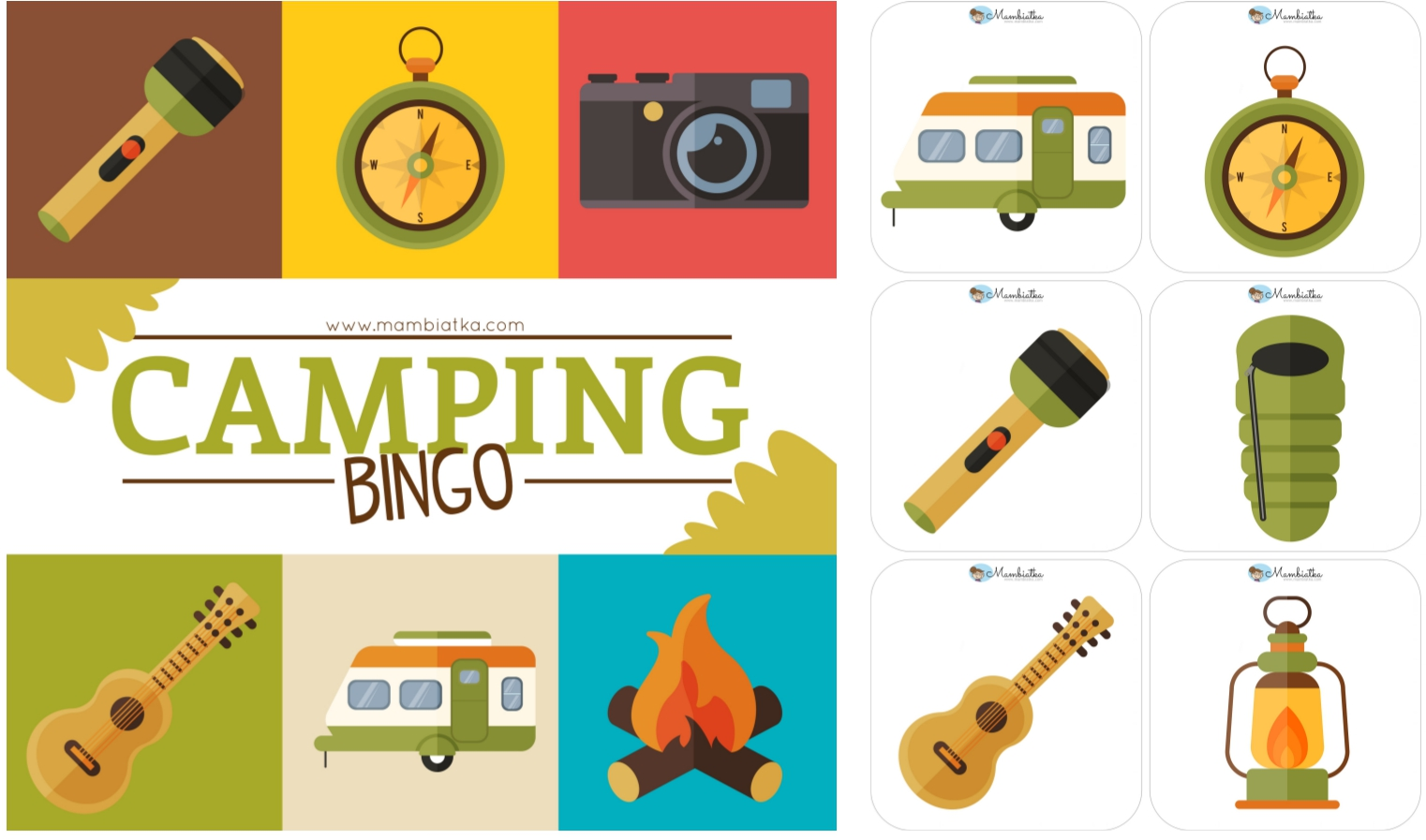 Camping Vocabulary Poster Flash Cards And Word