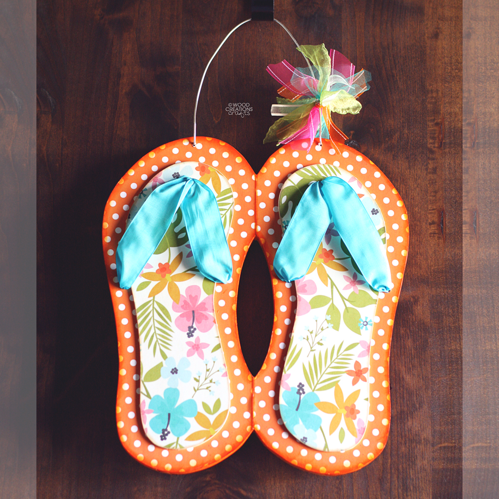 Wood creations summer crafts are here for Flip flops for crafts