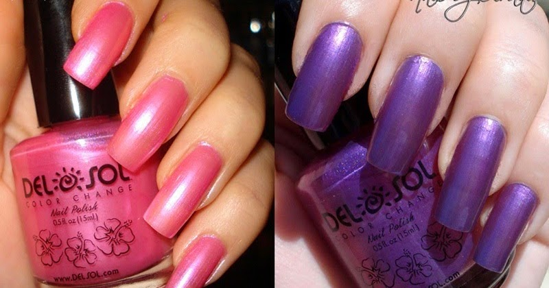 My Pretty Nailz Del Sol Color Changing Nail Polish Review Swatches And Nail Art Design