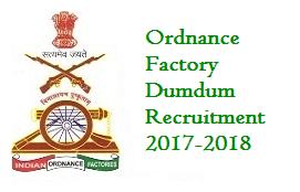 Ordnance Factory Dumdum Recruitment