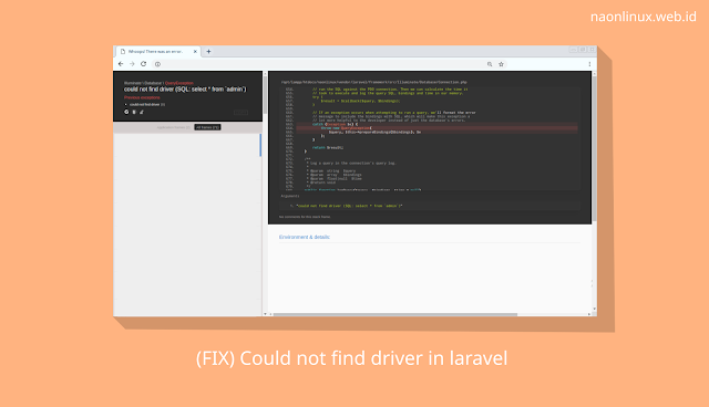 Cara Mengatasi Could Not Find Driver Di Laravel