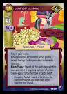 My Little Pony Learned Lessons Canterlot Nights CCG Card