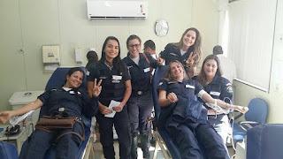 Guarda Civil Municipal de Anchieta (ES) realizam doação de sangue para repor estoque após tragédia na BR 101