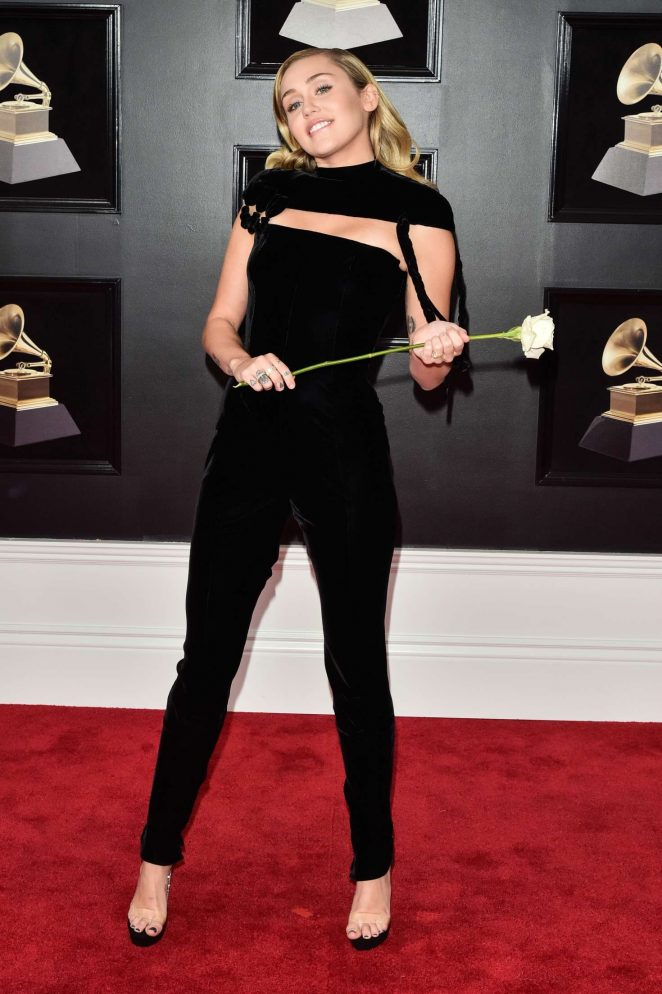 Miley Cyrus goes sophisticated for the 2018 Grammy Awards