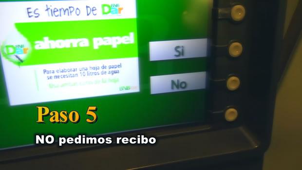 PASO 5: No pedir recibo