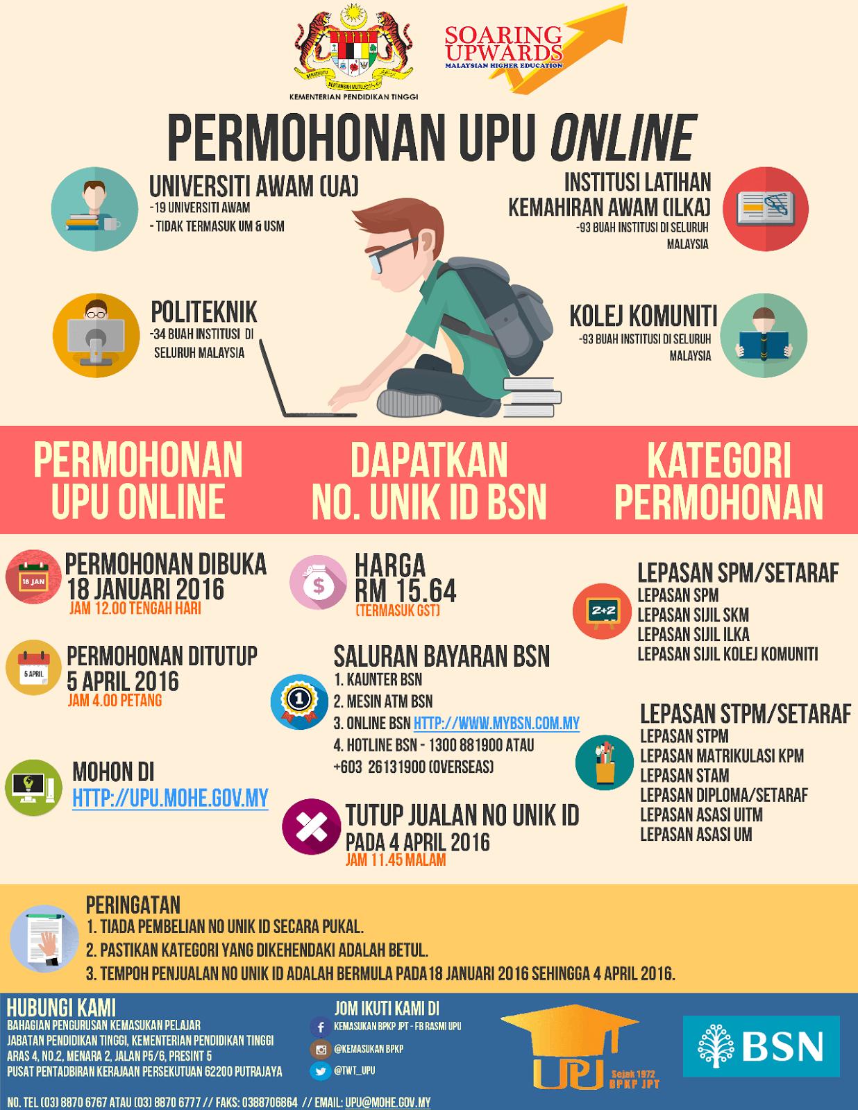 Kau Ilhamku Permohonan Upu Online Sesi 2016 2017