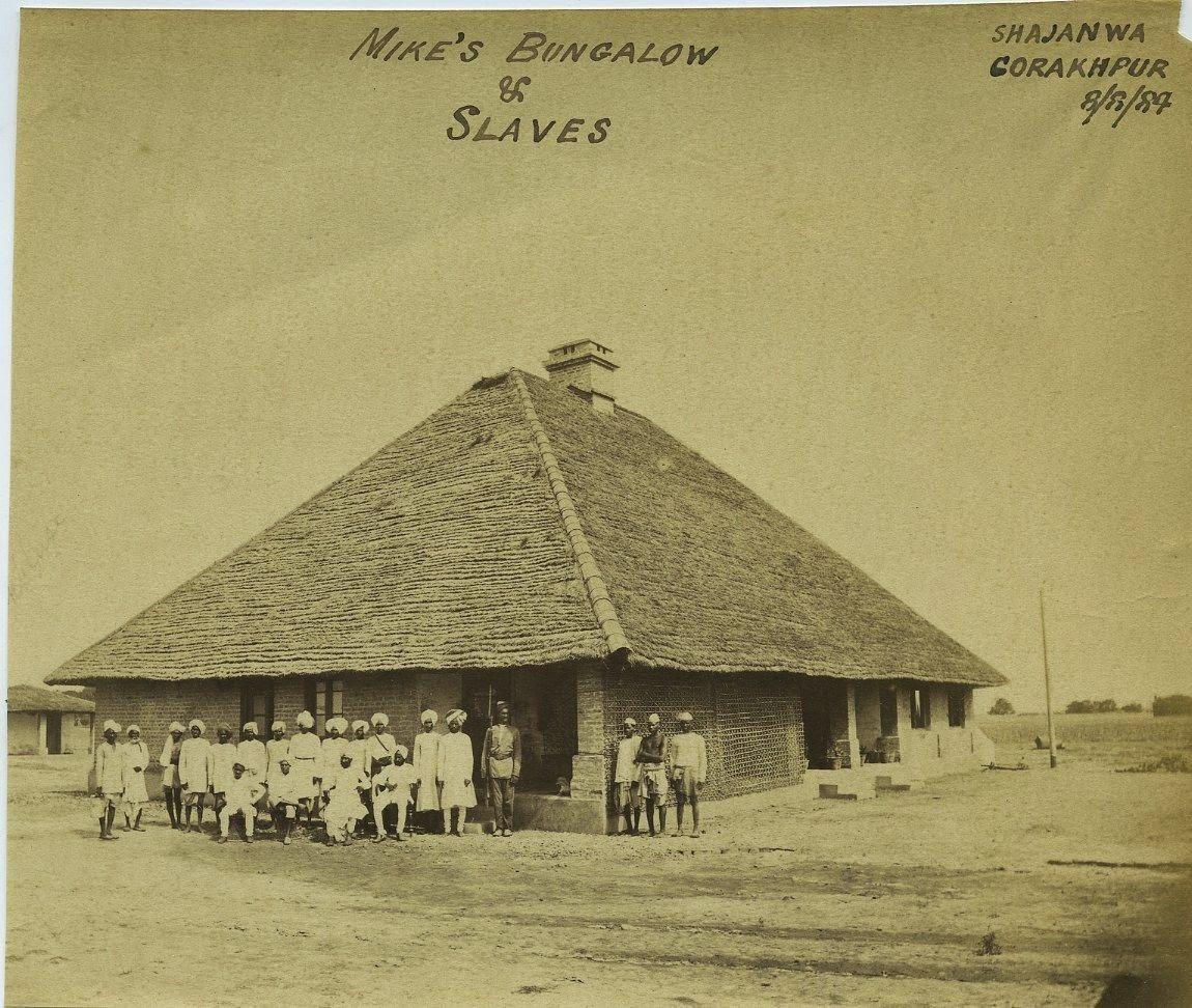 Mike's Bungalow and Staffs - Shajanwa, Gorakhpur, Uttar Pradesh, 1884