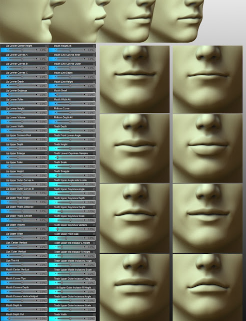200 Plus - Head Face Morphs for Genesis 3 Male