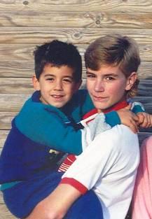 Jeremy holding Zach