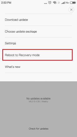 Masuk TWRP - Ganti Custom ROM MIUI Pro Redmi 2 dengan Mudah via TWRP