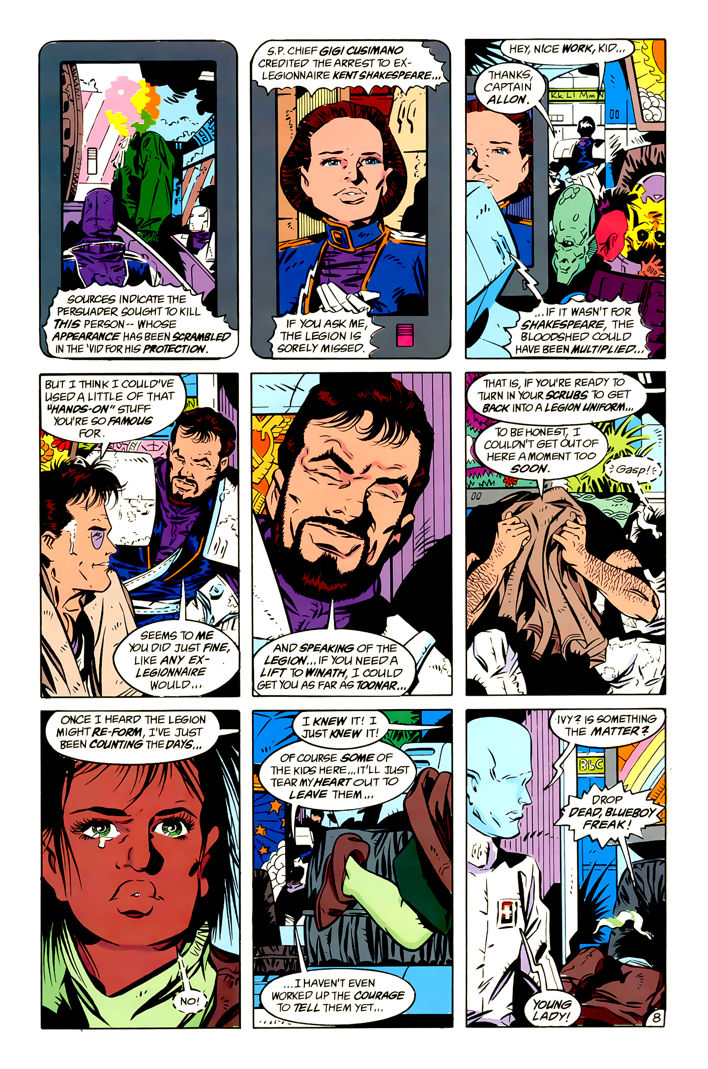 Legion of Super-Heroes (1989) 13 Page 8