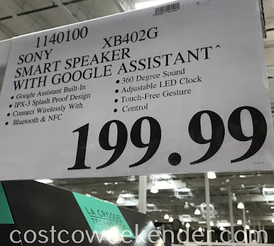 Deal for the Sony SRS-XB402G Wireless Speaker at Costco