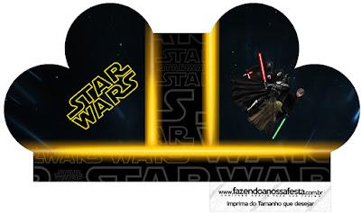 Caja abierta en forma de corazón de Star Wars.